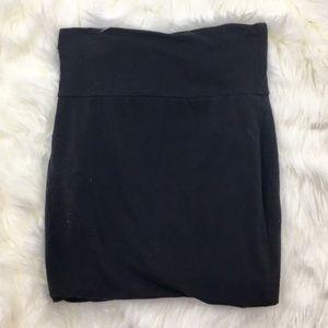 Lily White Black Bodycon Knit Mini Skirt